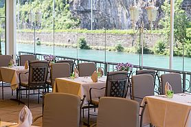 Terrasse | Lindner Grand Hotel Beau Rivage - Interlaken/Schweiz