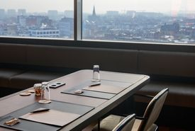 WTC Antwerp Sky Lounge with panoramic view over Antwerp at the Lindner Hotel 12 floor