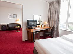 Panorama Suite Schlafbereich | Lindner Congress Hotel - Cottbus