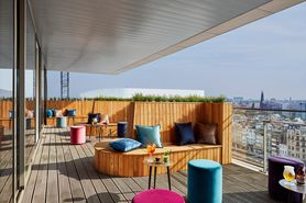 Sky Bar Antwerp - Terrace WTC Antwerp Lindner Hotel