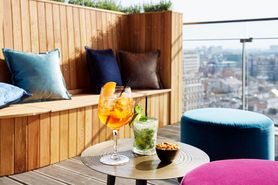 Terrace of the Sky Bar at Lindner WTC Antwerp