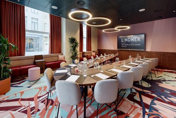 WTC Antwerp Sky Bar and Business Lounge with co-working spaces at the Lindner Hotel