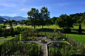 View over the herb garden | Lindner Parkhotel & Spa Oberstaufen