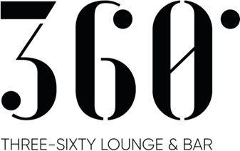 Logo of the 360 ​​Degree Three Sixty Lounge and Bar at the World Trade Center Antwerp at the Lindner Hotel