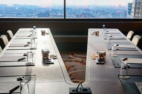 Sky Bar Hotel with V-table for meetings - Lindner Hotel WTC Antwerp